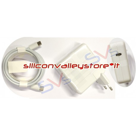 Alimentatore   Caricabatterie 61W per USB-Type C per Apple Macbook Magsafe