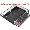 "BAY CADDY PER SECONDO HARD DISK 2,5"" NOTEBOOK HDD SSD DVD Bay 9,5 mm SATA"