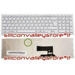 Tastiera Italiana Bianca con Frame per Sony Vaio AENE7U00120 VPCEH VPC-EH Series